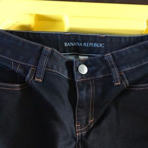 Well care Banana Republic blue bootcut jeans.